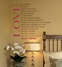 Love Never Fails Wall Decals Trading Phrases