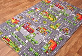 kids toy play mat car floor city cars