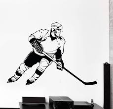 Wall Vinyl Decal Hockey Player Winter Sport Cool Decor Unique Gift Z38 Wallstickers4you