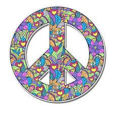 Peace Sign Floral Cute Hippie Vinyl Sticker Waterproof Decal Sticker 5 Walmart Com Walmart Com