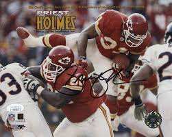 Priest Holmes Signed Kansas City Chiefs 8x10 Photo (JSA COA) | Pristine  Auction
