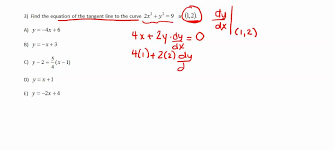 ap calculus review finding equations