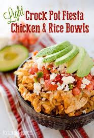 crock pot fiesta en rice bowls