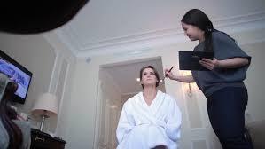 wedding makeup artist making