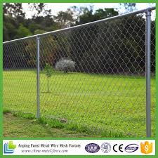 China Galvanized Chain Link Fence With Top Rail China Galvanized Chain Link Fence Chain Mesh Fence