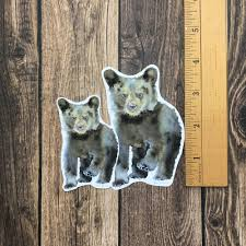 Black Bear Cub Vinyl Sticker Susan Windsor