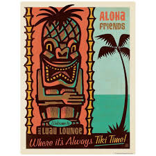 Retroplanet Posted To Instagram It S Always Tiki Time When You Have A Luau Lounge Wall Decal Myr Vintage Advertisement Kids Art Wall Frames Painting Prints