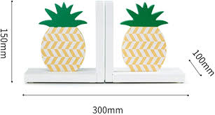Amazon Com Cribmate Tropical Pineapple Bookends Green Yellow Colored Thematic Bookends For Kids Room Nursery Room Decor Kids Gift Idea Home Kitchen