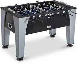 Amazon Com Soccer Foosball Table And Balls Set For Adults Kids Arcade Football Game Room Furniture 54 In Sports Outdoors