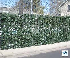 Artificial Dark Green Silk Ivy Privacy Fence Roll By Natrahedge