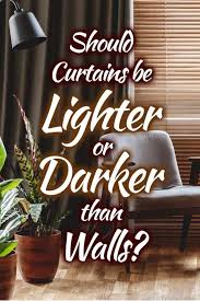 lighter or darker than walls