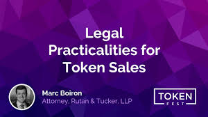 Marc Boiron - Legal Practicalities for Token Sales - YouTube
