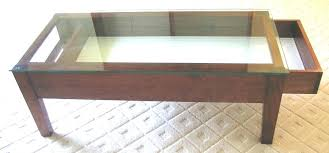 coffee tables with glass top displays