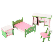 Dollhouse Miniature Painted Wooden Furniture Kid Toys Perfect Children S Toy With Kitchen Living Room Bathroom And Maternal And Child Room Etc Walmart Com Walmart Com
