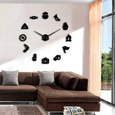 Camping Scouting Diy Giant Wall Clock Junior Kids Scout Campfire Exclu