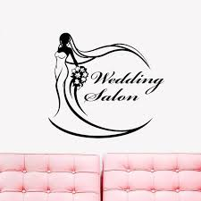 Wedding Dress Salon Logo Signboard Bride Stickers Vinyl Wall Window De Home Decor