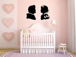 Amazon Com Wall Vinyl Sticker Princess Prince Silhouette Fairy Tale Cartoon Kids Room Mural Decal Art Decor Lp1641 Handmade