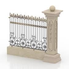 3d Model Fence Category Gates Fences