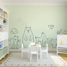 Cartoon Woodland Animals Bear Deer Wall Sticker Baby Nursery Kids Room Forest Pet Fox Wolf Animal Wall Decal Bedroom Vinyl Decor Buy At The Price Of 6 84 In Aliexpress Com Imall Com