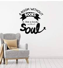 Vinyl Wall Decal Book Quote Saying Reading Corner Library Room Interio Wallstickers4you