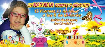 Bogue Diseno Grafico Tarjeta Invitacion Natalia 7 Anos