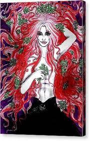 Mistletoe Loki Mixed Media by Dolly Smith
