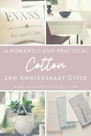 practical cotton anniversary gifts