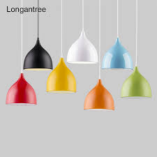 modern led pendant lights colorful