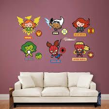 Amazon Com Fathead Kawaii Marvel Girl Superheroes Collection Real Big Wall Decal Home Kitchen