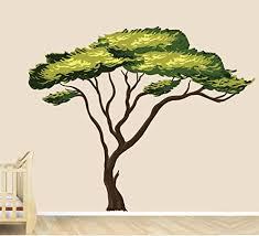 Amazon Com Nursery Decals And More Safari Tree Decal African Tree Decal Jungle Stickers Home Kitchen