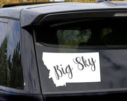 Big Sky Montana State Decal Car Decal Bumper Sticker Window Cling Laptop Sticker Laptop Decal Comp Laptop Decal Childrens Clothing Boutique Diy For Kids