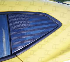 Camaro American Flag Rear Quarter Window Accent Decal 2016 2021 Decal Concepts