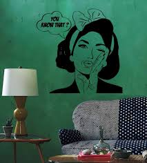 Sexy Girl Woman Teen Wall Stickers Quote You Know What Pop Art Bedroom Wall Decal Waterproof Vinyl Autocollant Mural Sa257 Autocollant Mural Wall Stickerwall Sticker Quotes Aliexpress