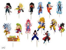 Super Bola De Dragon Heroe De Dragon Ball Z Cupcake Topper Goku