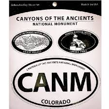 Canyons Of The Ancients National Monument Vinyl Decal Set Canyonlands Natural History Association
