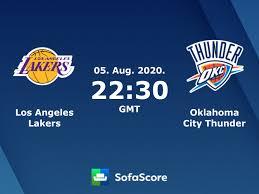 Los Angeles Lakers Oklahoma City Thunder live score, video stream ...