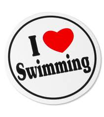 Bay Six I Love Swimming Black White Round Decal At Swimoutlet Com