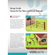 Voss Farming Complete Electric Fence Kit For Dog Cat Fence With Mains Energiser Green