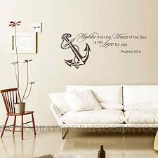 Battoo Mightier Than The Waves Of The Sea Is His Love For You Wall Decal Quote Ocean Nursery Decor Scripture Home Decor Ocean Nursery Decor Scripture Wall Art