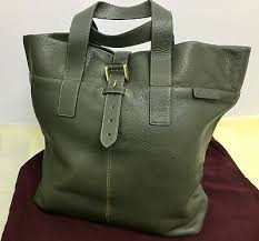 military green mens leather tote