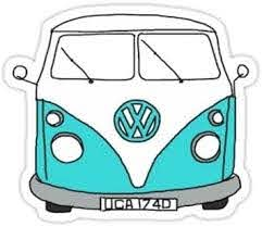 Amazon Com Vw Bus Size W6 9 X H8 2 Centimeter Car Motorcycle Bicycle Skateboard Laptop Luggage Vinyl Sticker Graffiti Decal Bumper Sticker By August999 Arts Crafts Sewing