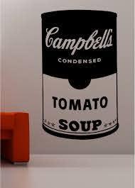 Andy Warhol Style Soup Tin Pop Art Wall Art Quote Sticker Vinyl Kitchen Lounge Ebay