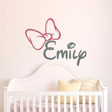 Girl Name Wall Decal Initial Personalized Custom Baby Name Etsy