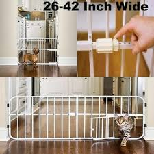 Expandable Baby Gate Fence Indoor Safety Small Pet Door Dog New