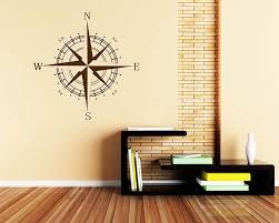 Compass Vinyl Decals Modern Wall Art Sticker