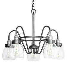 5 light rustic pewter chandelier