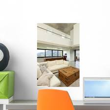 Beautiful Modern House Cement Wall Decal Wallmonkeys Com