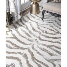 ft gray handcrafted area rug zf5 406