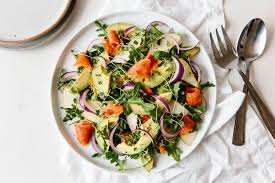 Smoked Salmon, Avocado and Arugula ...