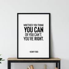 Henry Ford Quote Wall Sticker Vinyl Lettering Business Etsy